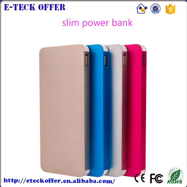 hot products Portable 10000mAh Aluminum Metal Slim Power Bank for reselling with logo printing