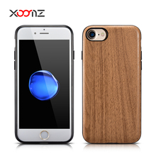 XOOMZ Customized Wood Embossed PU Leather Back Case for iPhone 7 7 Plus