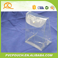 Make up punch button ladies bag packing stand up plastic bag