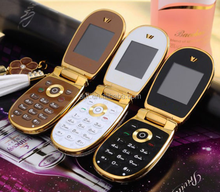 Single SIM luxury small size lady flip mobile phone M9