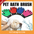 New Magic Silicone Pet Dog True Touch Hair Cleaning Glove Bath Brush / Massage Hair Removal Glove Comb