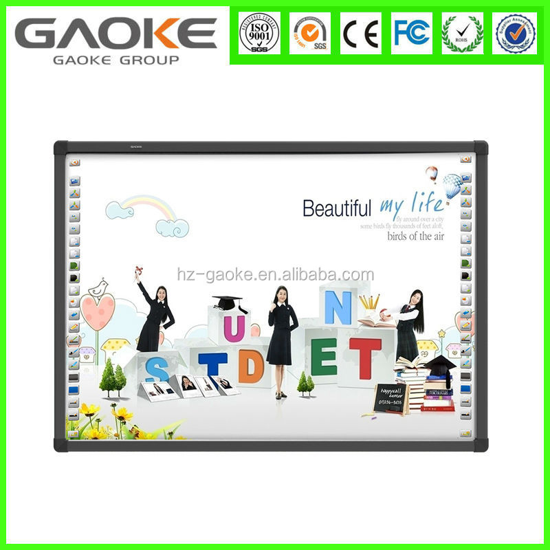 digital interactive whiteboard ,electronic display touch screen board working with projector