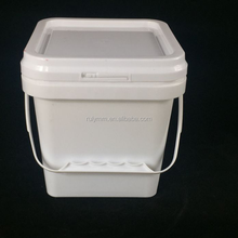 New prodcut food square plastic bucket witn lid and handle wholesale