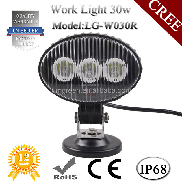 Factory Price 30W LED Work Light Flood Beam, Waterproof 6500K LED Works Lamp for Project Car