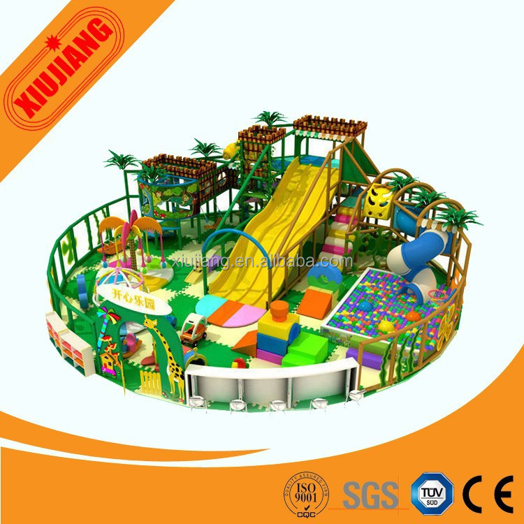 Soft kids play equipment amusement used kids plastic playhouse for sale