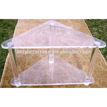 2011501103 lucite triangle acrylic corner Tables