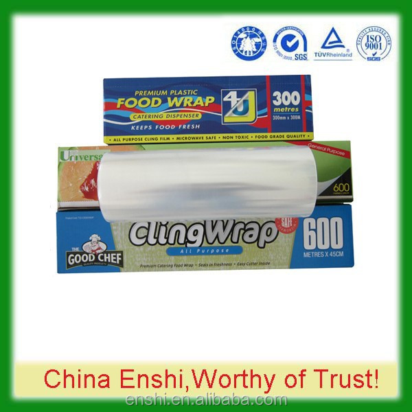 Customize PE transparent best fresh film food grade printed plastic wrap