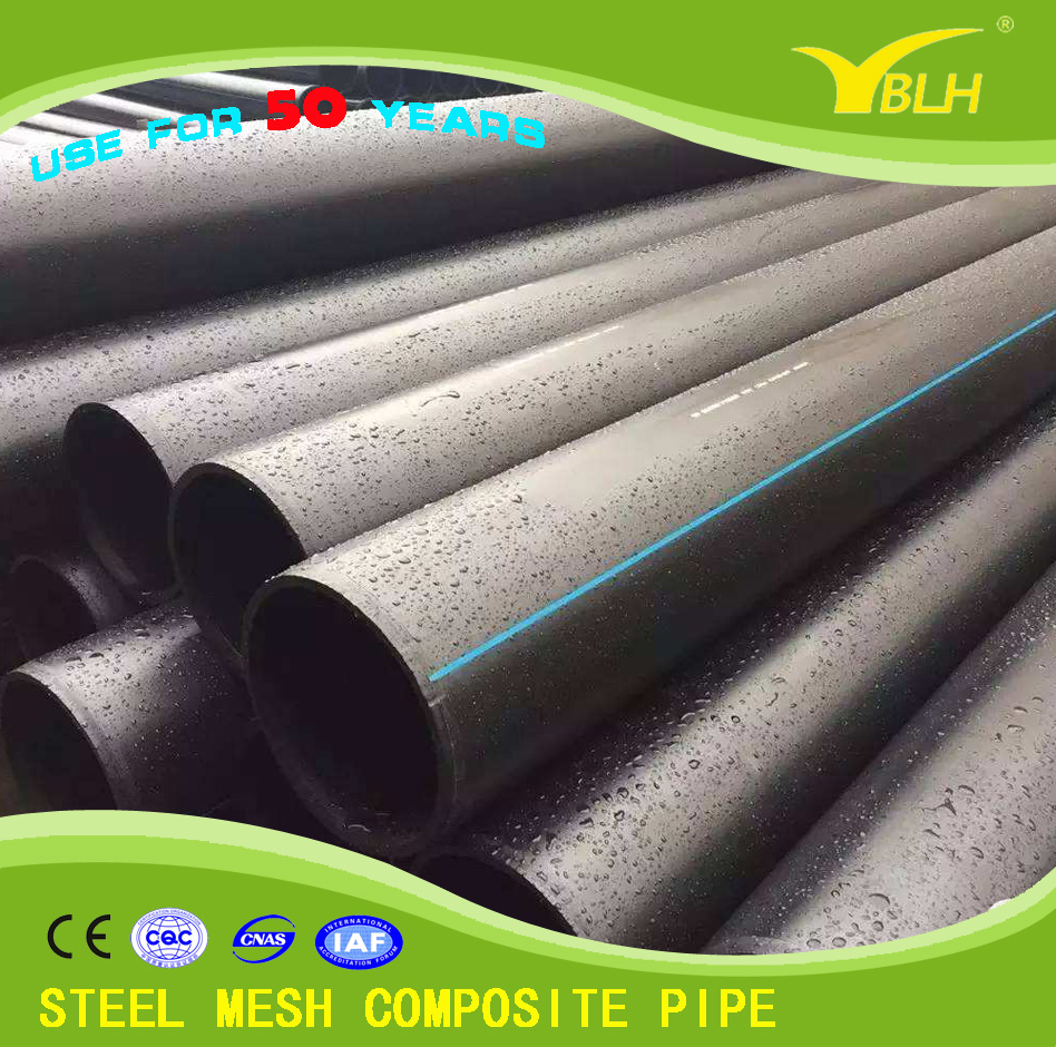 Best selling products galvanized water supply pipe Polyethylene Steel mesh composite pipe