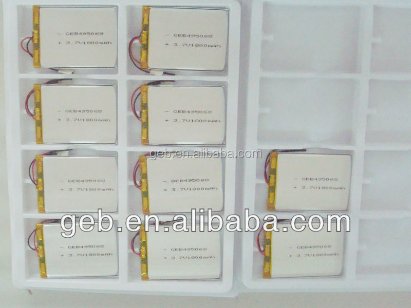 rechargeable polymer lithium battery 505068 3.7V1800mAh battery