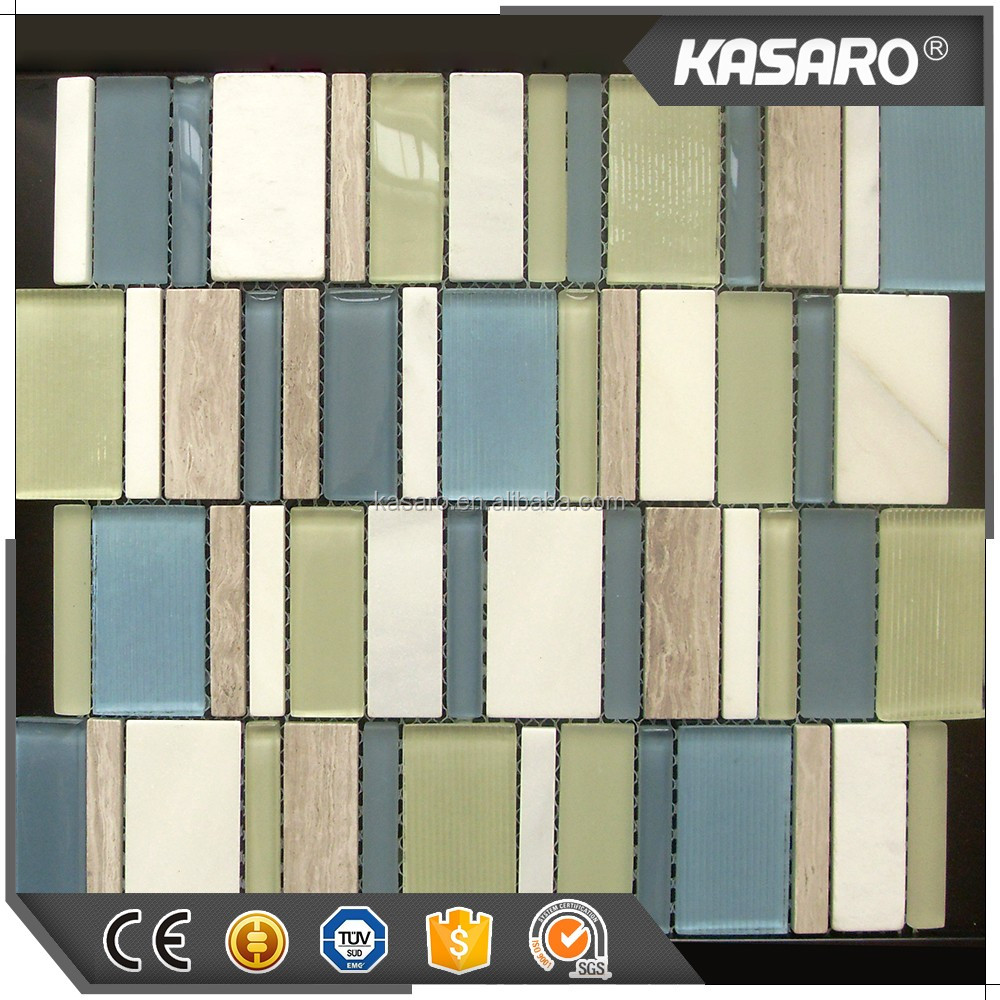 Latest Design Linear Glass And Stone Mosaic Home Decor ( KN-12112811 )