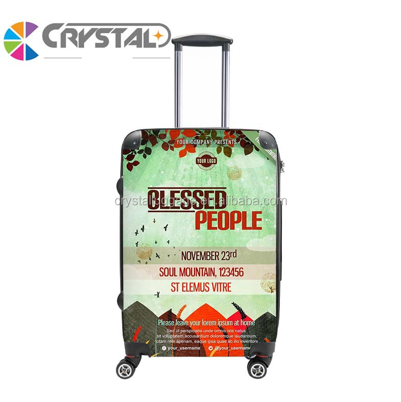 Customized Design New Arrival Women and Men Bright Color Trolley Handle PC Travel luggage