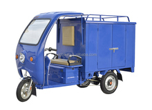 Top quality 1000w cargo electric tricycle with closed cabin for express used