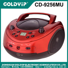 Portable sport boombox cd player with fm am radio and digital display and aux in