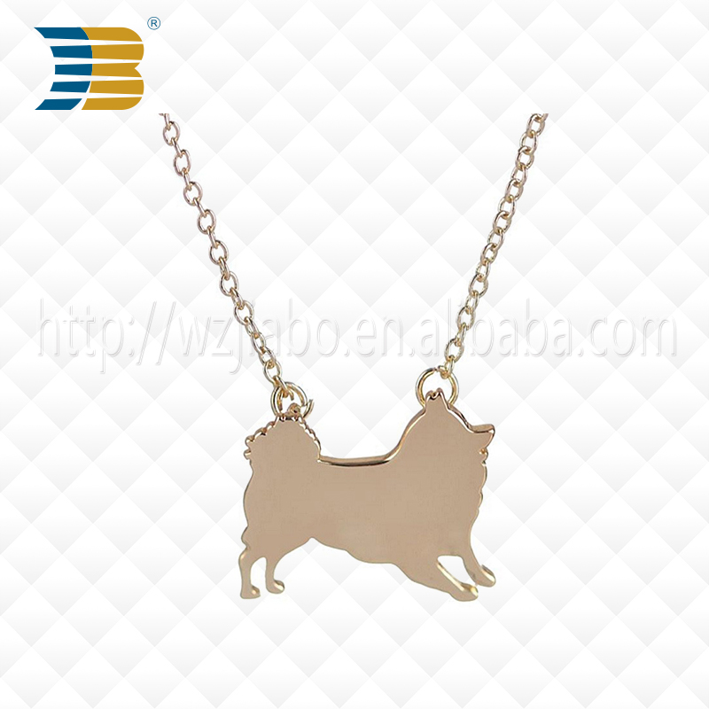 Wholesale High Polished Zinc Alloy Necklace Silver Metal Blank Dog Tag