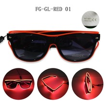 red LED Flashing Party Glasses, Party Flashing Led sound activated Light Sunglasses