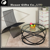 2016 new style hot sale coffee table glass metal wrought iron table outdoor table dining table