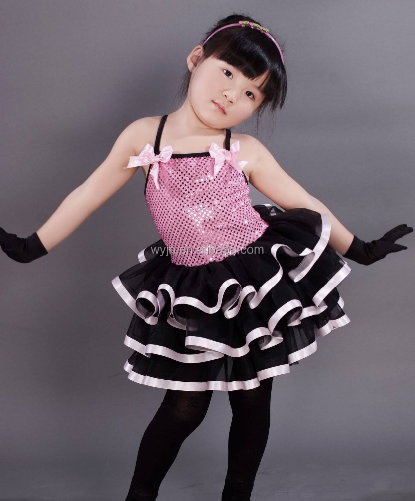awesome children girls dance skirt -ruffles cute dress - love story concert wear