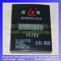 SHENGHUA box packing leather marking Silver refill pen