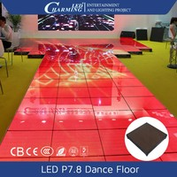 Charming brand stages dance club LED dance floor P7.8 for playing video