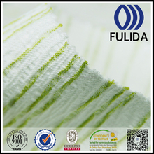 white and green 100%polyester crepe fabric for laides
