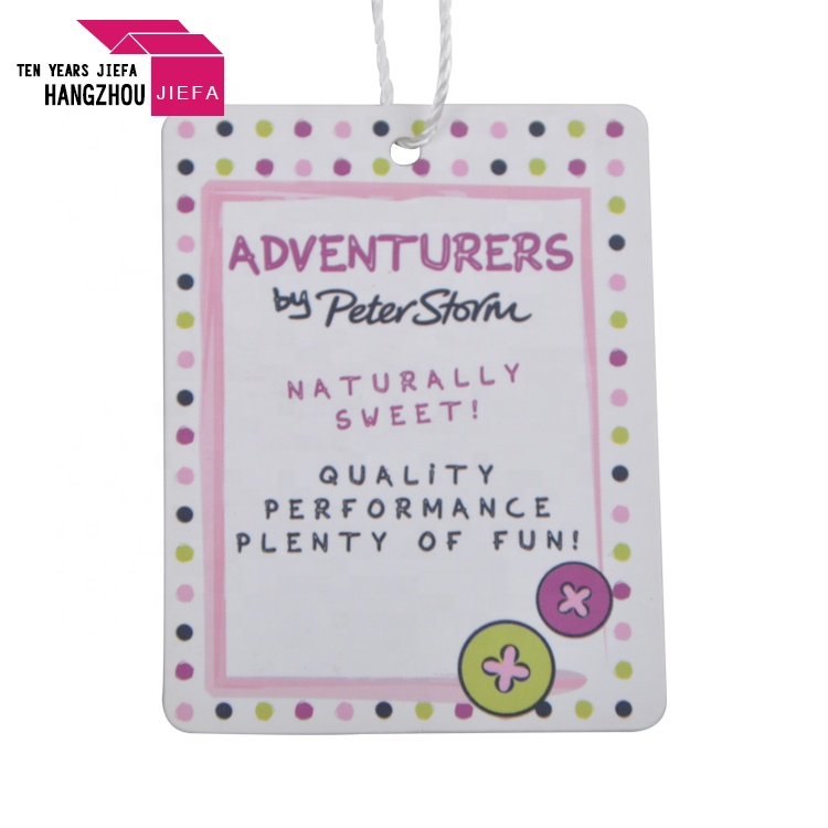 Custom Color Printing Hang Tag Clothes Brand Tag