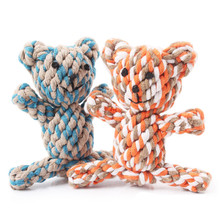 Hot Selling 2017 Amazon Cotton Rope Bear Cat Handmade Knitted Pet Dog Toys