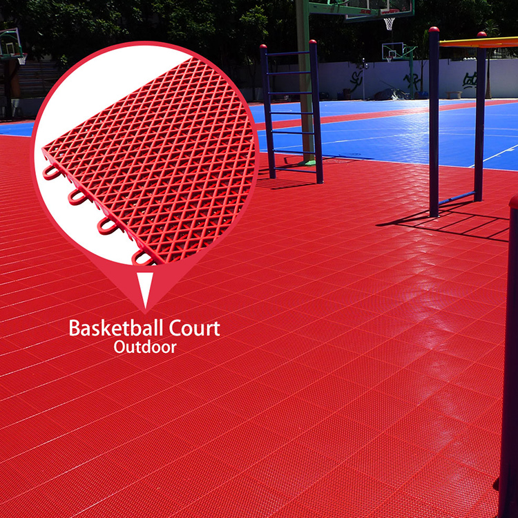 Multi purpose waterproof new pp plastic portable sports court basketball flooring