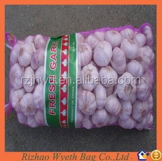 hdpe packing garlic mesh net bag