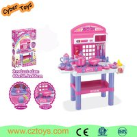 Latest style ABS plastic big kids kitchen set toy for children