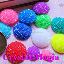 beautiful jelly color flat back round shape resin sew on stones