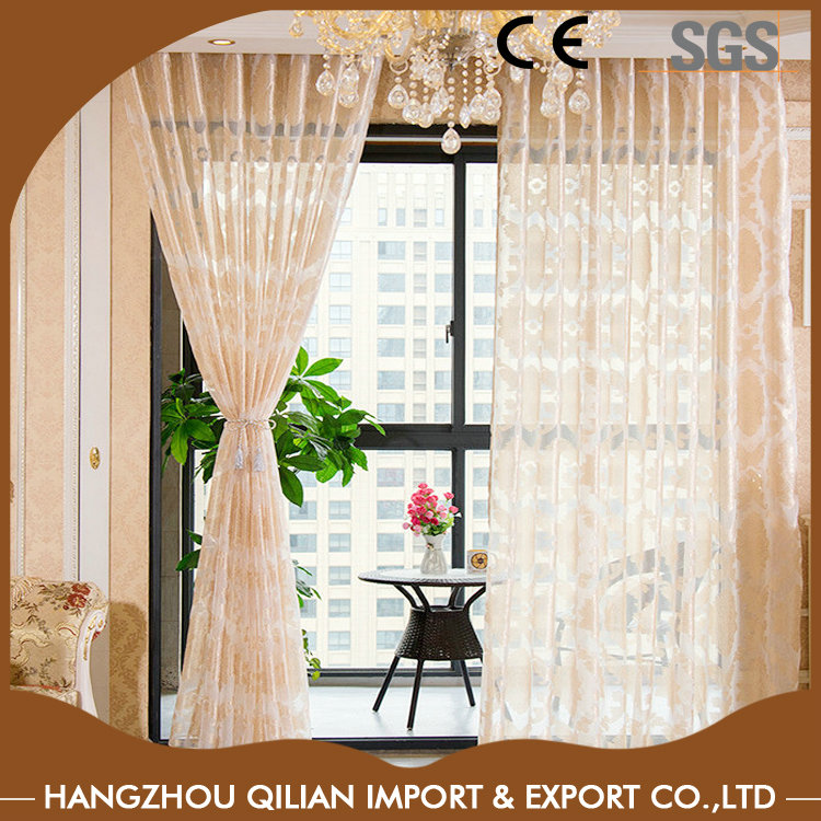 Modern jacquard macrame lace curtains with professional supplier