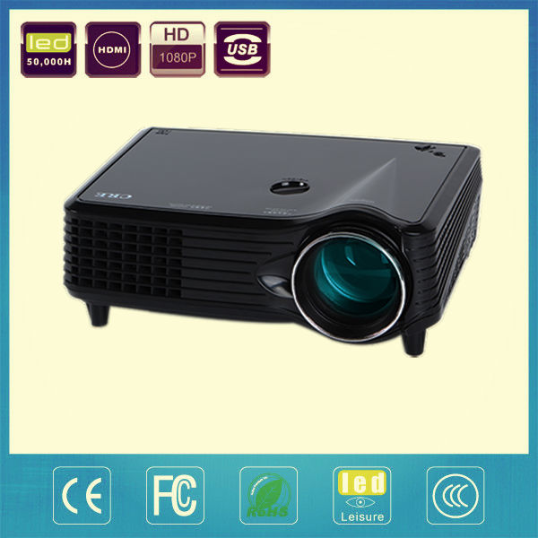 Cheap led small pocket tvs projector with remote VGA port