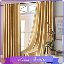 Polyester One Side Shinning Blackout Curtain