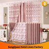 New fancy Polyester jacquard water-soluble embroidery living room window curtain