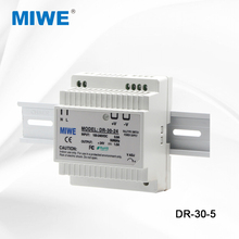 High quality dr 30w 5v dc plastic shell din mount power supply ac dc output