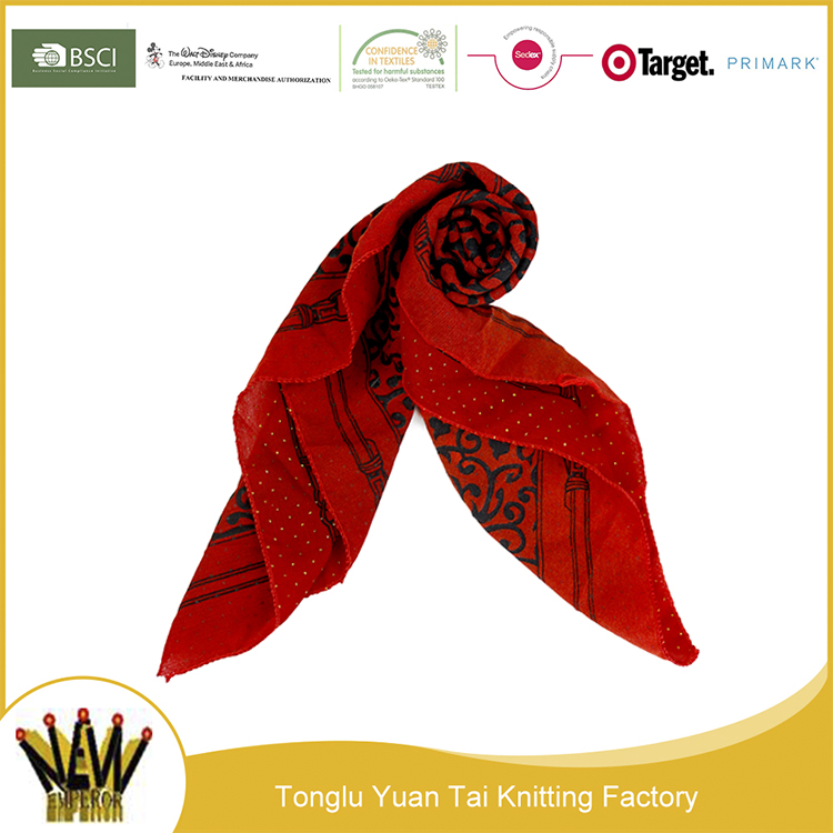 High quality new design hot arab muslim hijab printed scarf