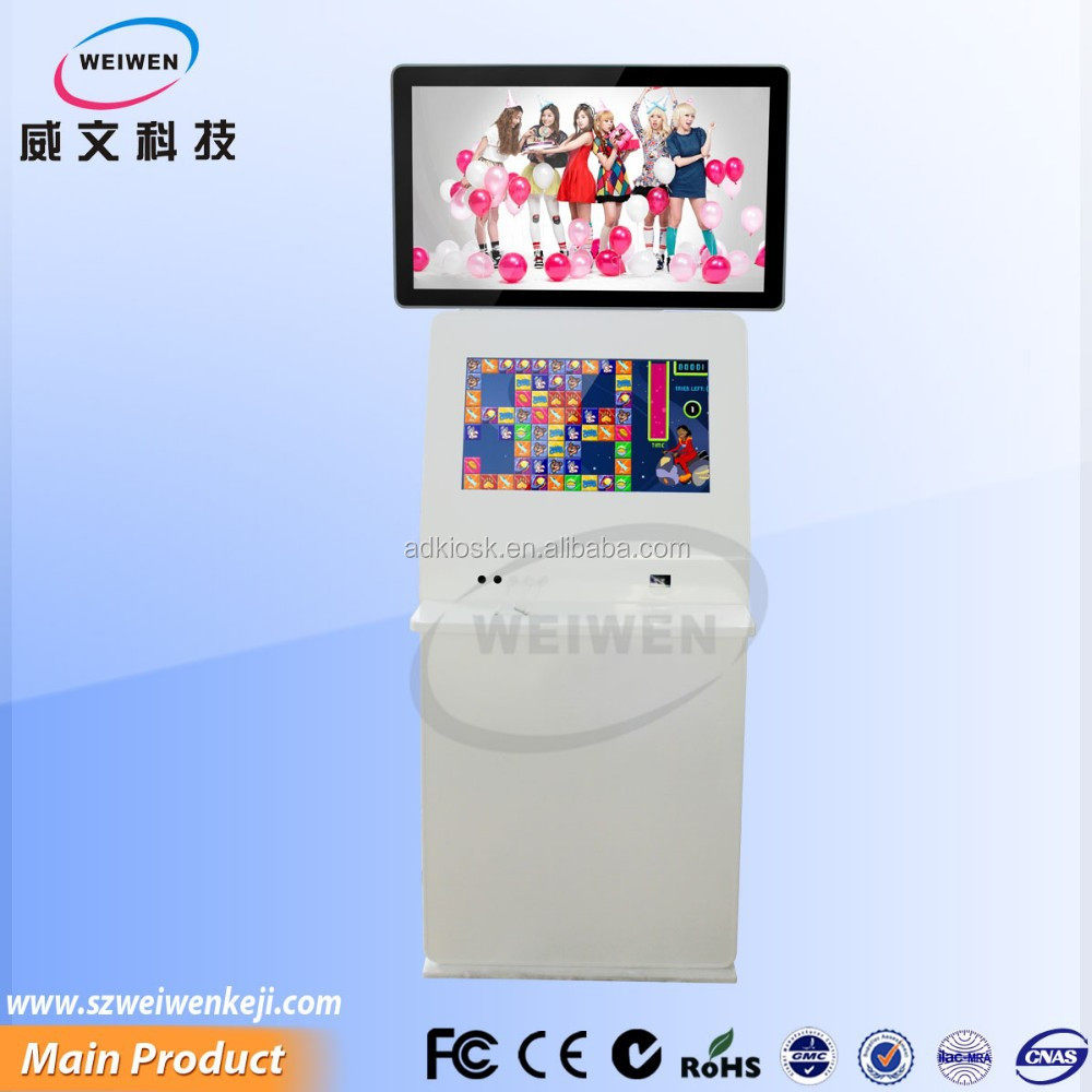 self service multi function queue management system kiosk