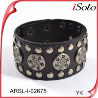 Fashion new design bulk leather mens bracelet punk rock bracelet&bangle for men