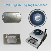 52D English Militray Metal Dog Tag Embosser New Manual