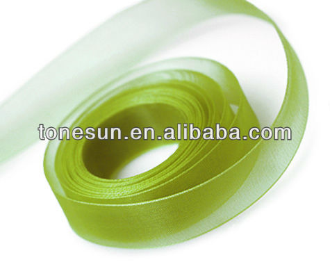 Palm Green Silk Chiffon Ribbons for Maple Sugar Festival Canada
