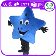 HI CE cheap yellow star shape mascot costume for men for adult