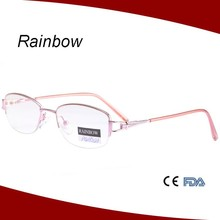Half rim metal round shape reading glasses