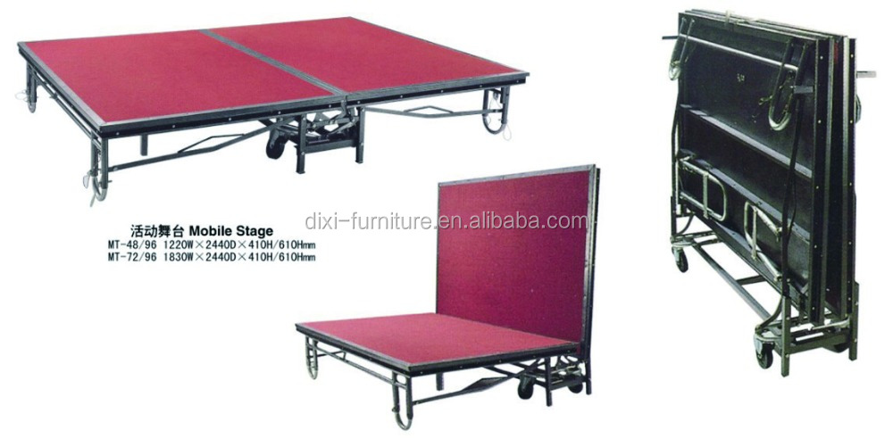 Floor portable movable stage with stairs mobile Pole Dance X Linen Platform Units