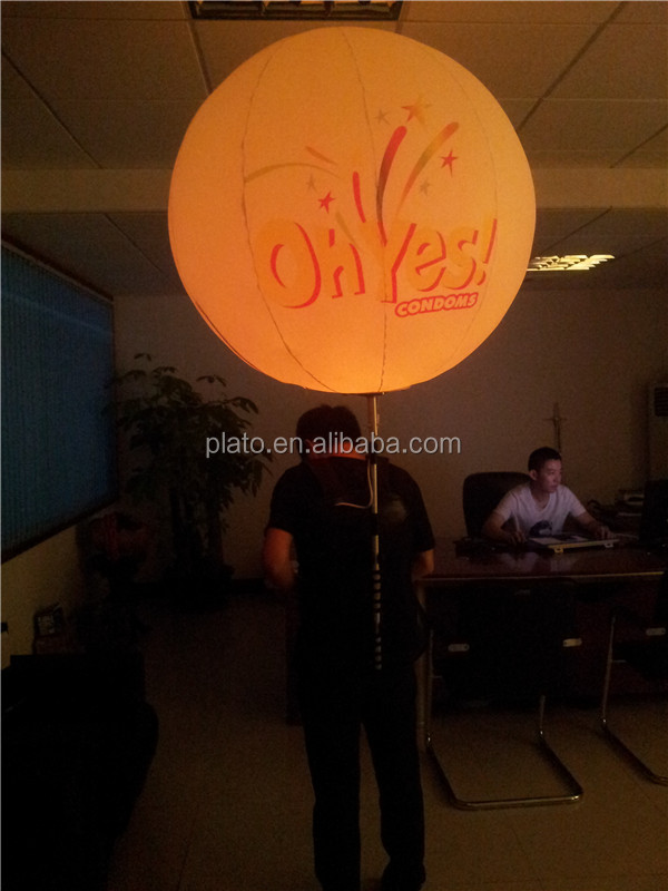 Hot sale Inflatable advertising backpack balloon with LED light for sale/backpack balloon