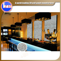great visual impact factory offer Home restaurant wall decoration decor 3d wave board for sale