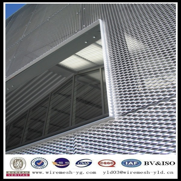 aluminum sheet with surface treatment expanded metal mesh builidng wall cover(ISO9001)