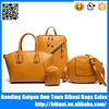 China supplier hot fashion designer purse lady shoulder bag 4 pcs set pu messenger women leather bag handbag