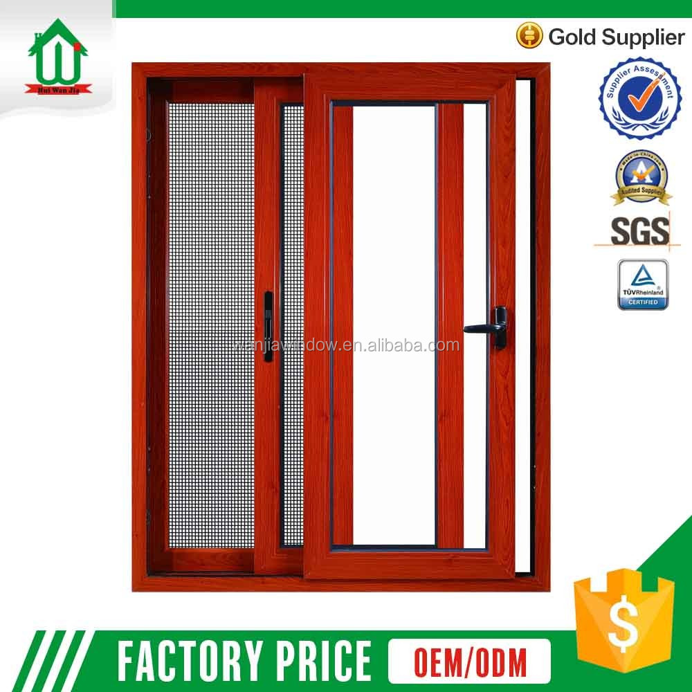 Wanjia aluminium windows with mosquito net inside