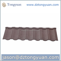 News Roofing System Solution Tongyuan Stone Coated Steel Roof Tile
