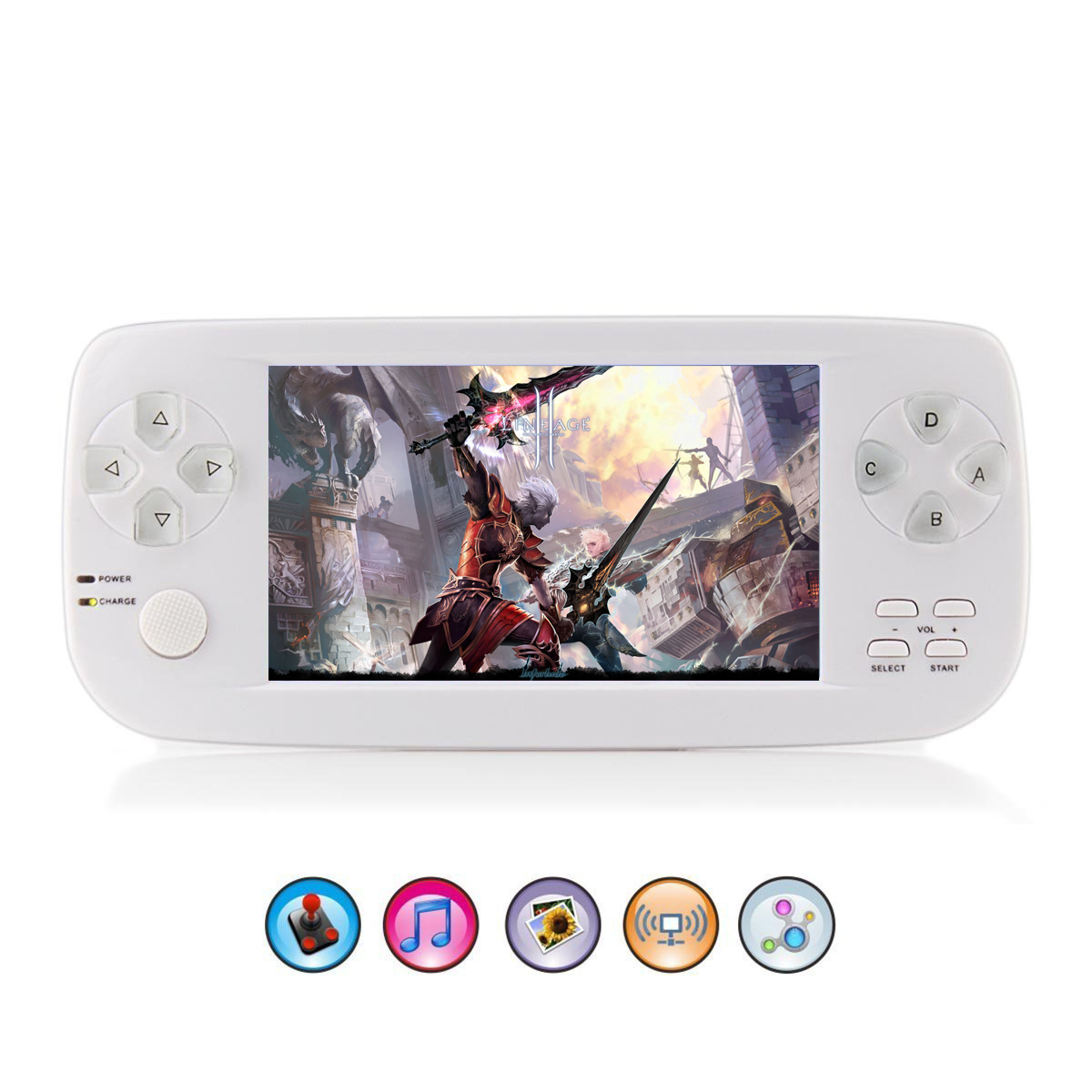 64 Bit 4.3 Inch Handheld Video PAP KIII Game Console for Child